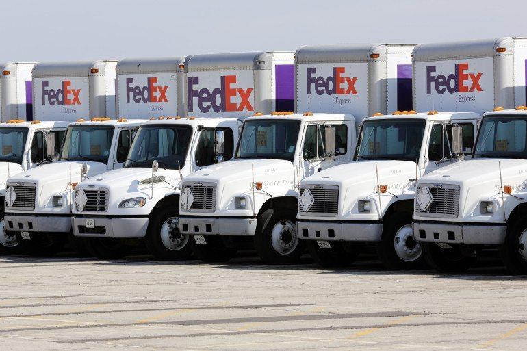 FedEx trucks