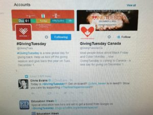 Giving Tuesday donations are largely driven by social media channels.