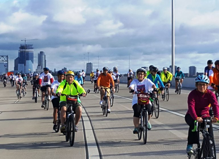Hundreds of cyclists participated in the United Performing Arts Fund's annual Ride for the Arts this spring to raise money for art organizations around Milwaukee.