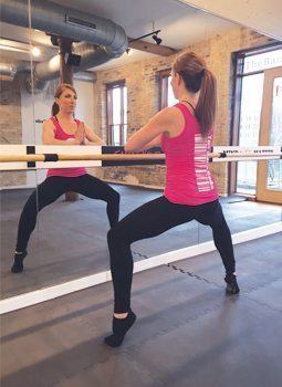 Cramer-Krasselt media relations supervisor Heather Shannon takes barre classes about four times a week.