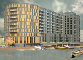 Developer David Winograd is planning a 12-story, 164-unit apartment building at the corner of South Pittsburgh Avenue and South Water Street. This would be one of the first new developments in the Harbor District.