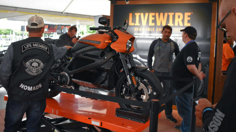 Harley-Davidson LiveWire on display