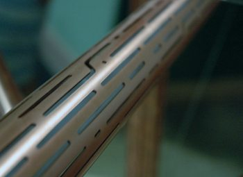 The copper tubes were fabricated with hundreds of pieces cut out.