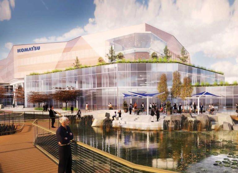 Komatsu to build $285 million HQ complex at Solvay Coke site