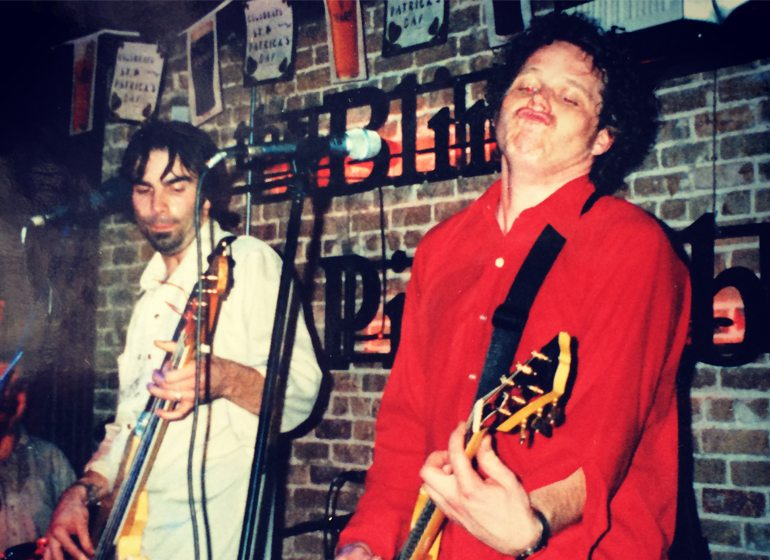Bard Meier (right) plays with American Paint bandmate David Schultz (left) at South by Southwest.