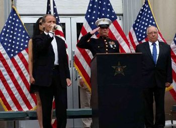 Joseph Scala sings the national anthem at a Memorial Day event in 2016.