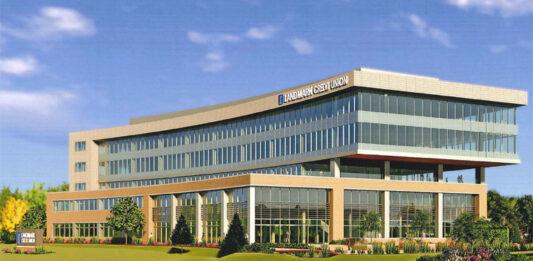 A rendering of Landmark's planned headquarters in Brookfield