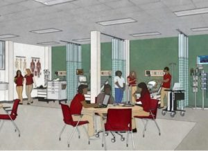 A rendering of the planned Learning Center, which will be built in an existing classroom at the northwest campus of Carmen High School of Science Technology.