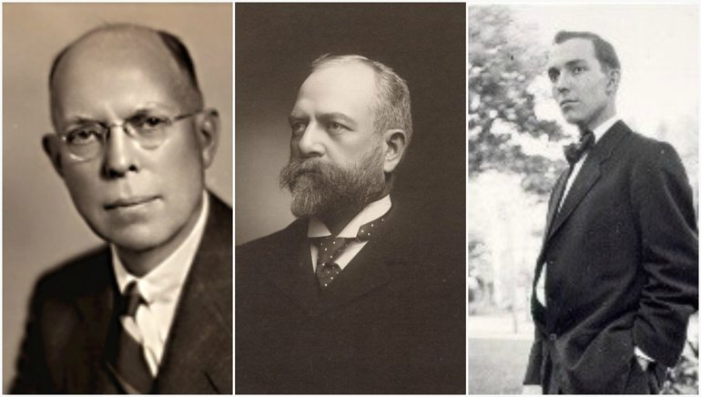 Lynde Bradley, Dr. Stanton Allen and Harry Bradley.