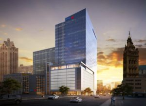 Rendering of the BMO Harris Financial Center.