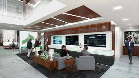 A rendering of Associated's new Milwaukee Private Client Center.