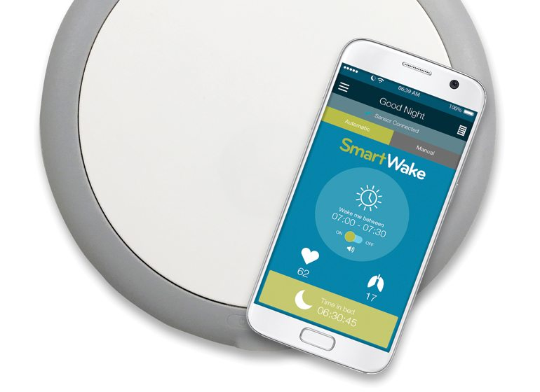 Verlo designed the user experience for its SmartWake app and partnered with Israel-based EarlySense for a sensor that goes under the user's mattress.