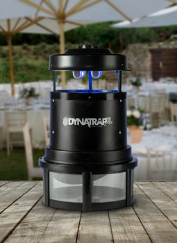 DynaTrap uses UV light and titanium dioxide to attract mosquitoes.