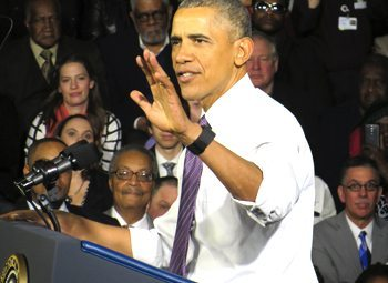 Obama spoke at the UCC in Milwaukee.
