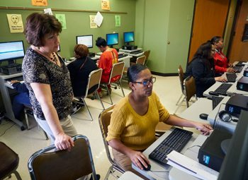 Employees at the Behavioral Health Division participate in regular training and education programs.