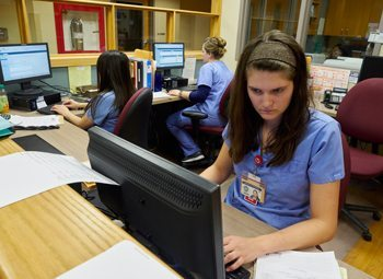 Milwaukee County Behavioral Health Division nurses Lauren Gardner, Jessica Saldivar and Monica Fenelon.