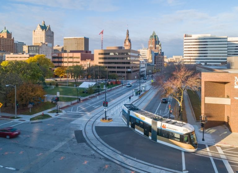 Bird's Eye View: Cathedral Square Park and The Hop