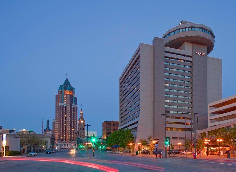 Hyatt Regency in downtown Milwaukee. Credit: VISIT Milwaukee