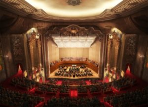 Rendering of the new Milwaukee Symphony Orchestra concert hall planned at the Warner Grand Theatre.
