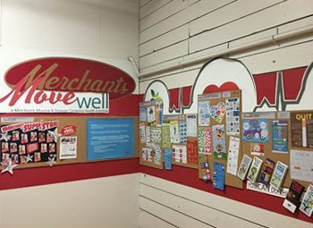 Merchants Moving & Storage Company in Racine implemented a MoveWell program. The MoveWell Hallway here has information on the program.