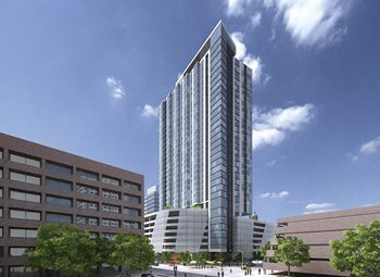 The tower will be located at Mason and Van Buren streets.