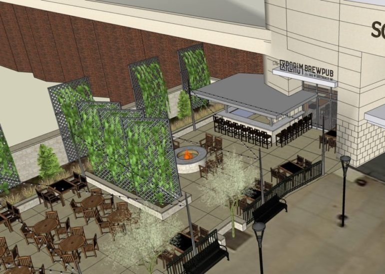 Rendering of the Explorium Brewpub at Southridge Mall