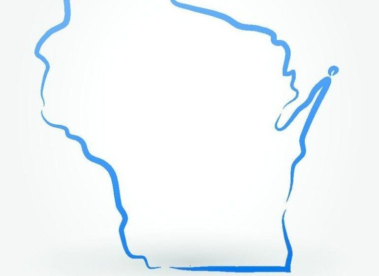 Wisconsin state outline