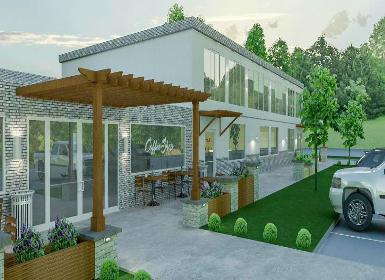 Rendering of Zimmers Landscaping new office