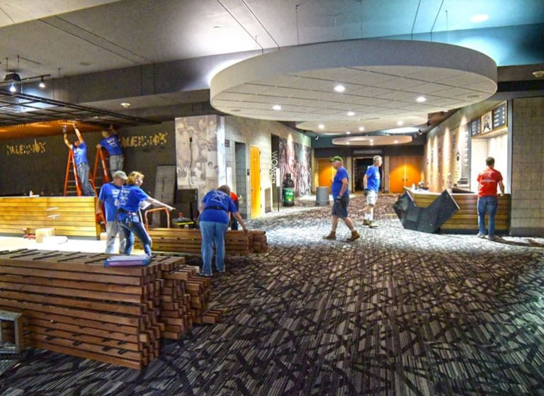 Habitat for Humanity deconstructs the Bradley Center