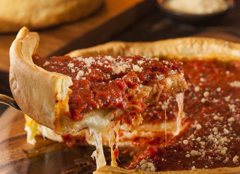 Deep dish pizza-Shutterstock