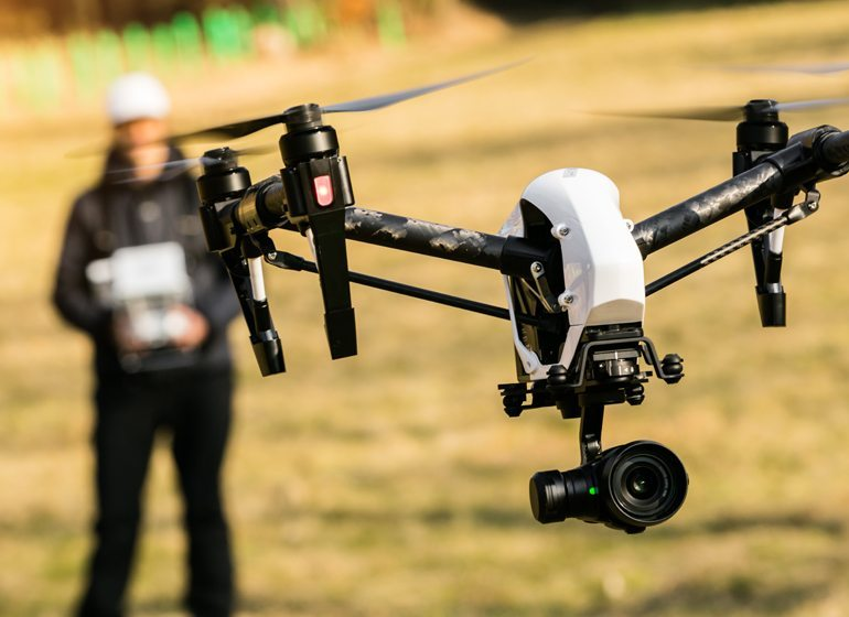 Drones can be used for surveying damage on insurance claims.