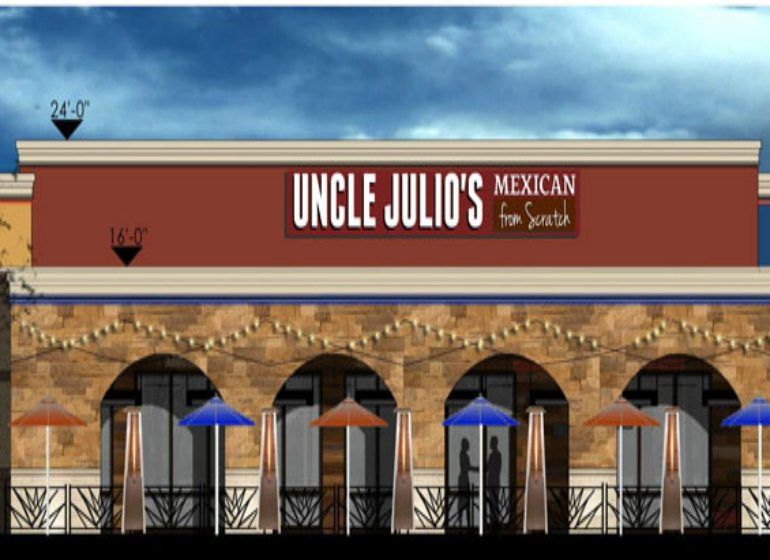 Rendering of Uncle Julio's Mexican restaurant