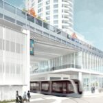 The Couture plans include a multi-modal transit hub with a streetcar stop.