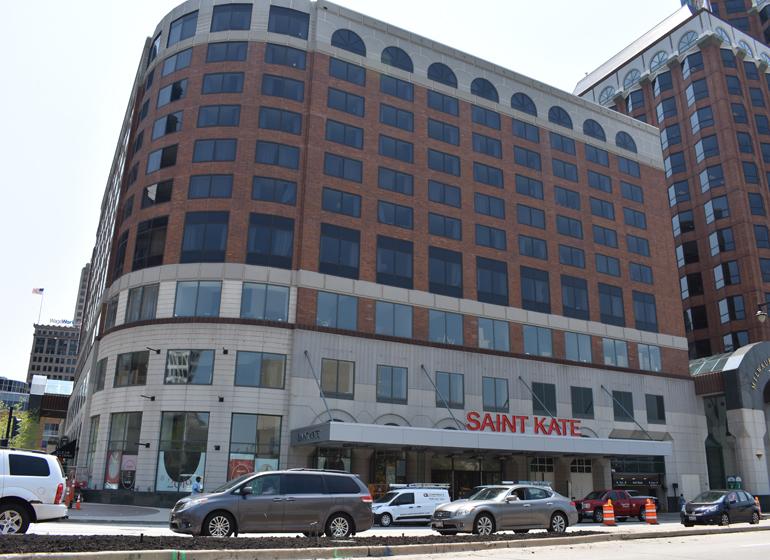 Saint Kate hotel in downtown Milwaukee.