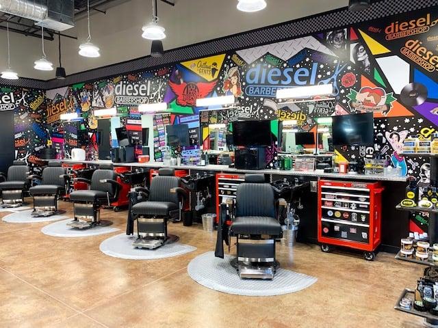 Diesel Barbershop interior