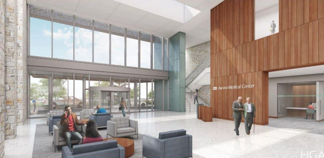 A rendering of the Aurora Medical Center Sheboygan County