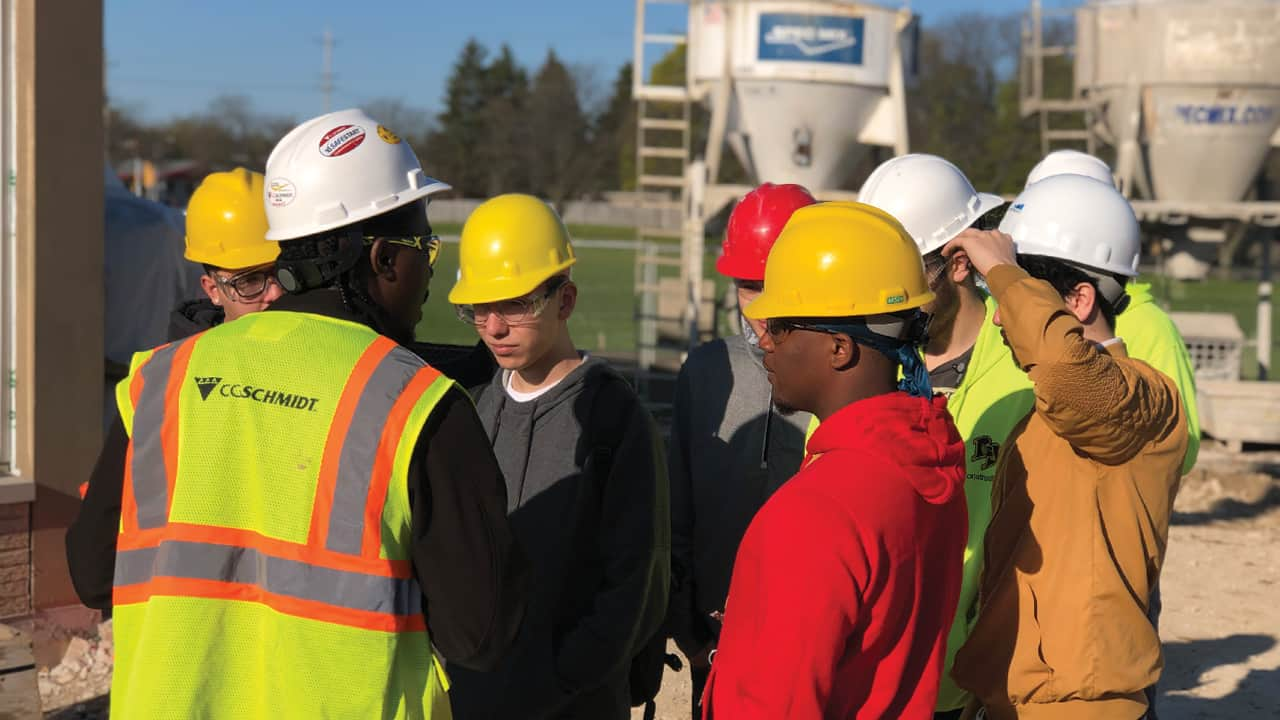 Brown Deer High School hosted an Industry Signing Day for future apprentices at area construction companies