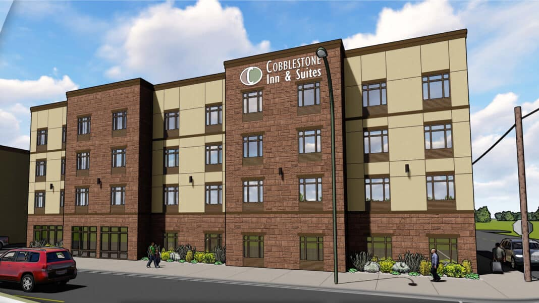 A rendering of the new Cobblestone hotel in Plymouth