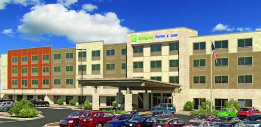 Rendering of the Holiday Inn Express & Suites planned in West Allis.