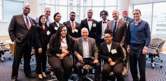 Students from Milwaukee Lutheran High School's Free Enterprise Academy were hosted recently by Bill Nasgovitz, chairman and chief investment officer of Heartland Advisors, in the company's downtown Milwaukee office.