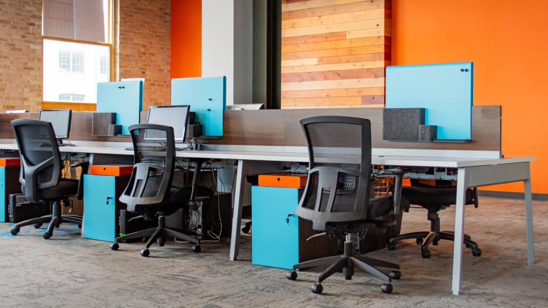 Milwaukee Film's downtown office was designed by Milwaukee-based Abacus Architects, with furniture provided by New Berlin-based Schroeder Solutions.