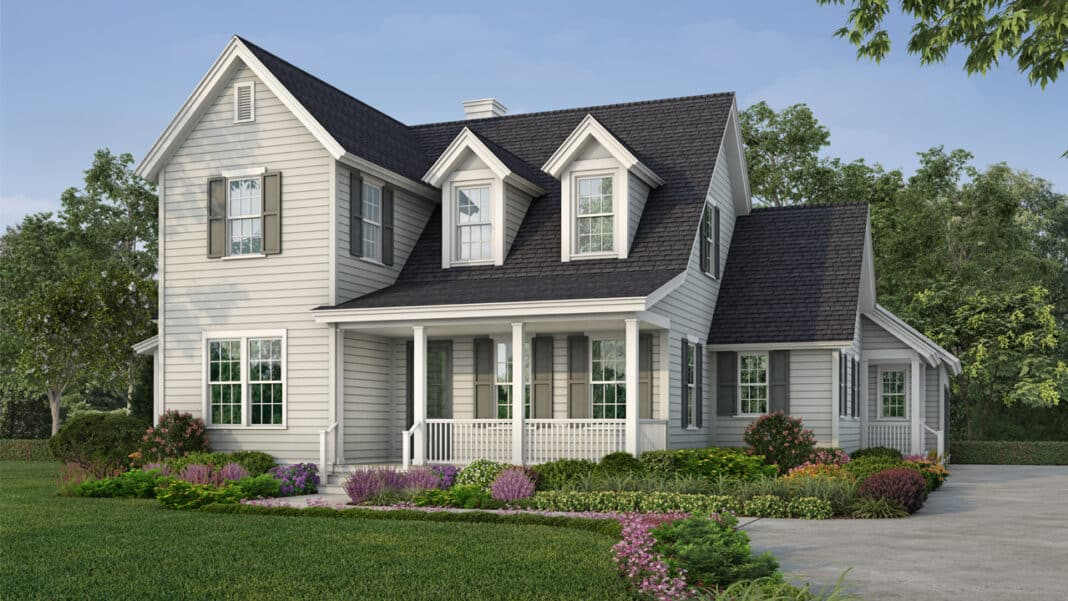"""The """"Model 9—Colonial"""" pre-approved home plan for The Clearings, Kohler Co.'s new subdivision in the village of Kohler. It is 2,800 square feet with four bedrooms and 4.5 bathrooms."""