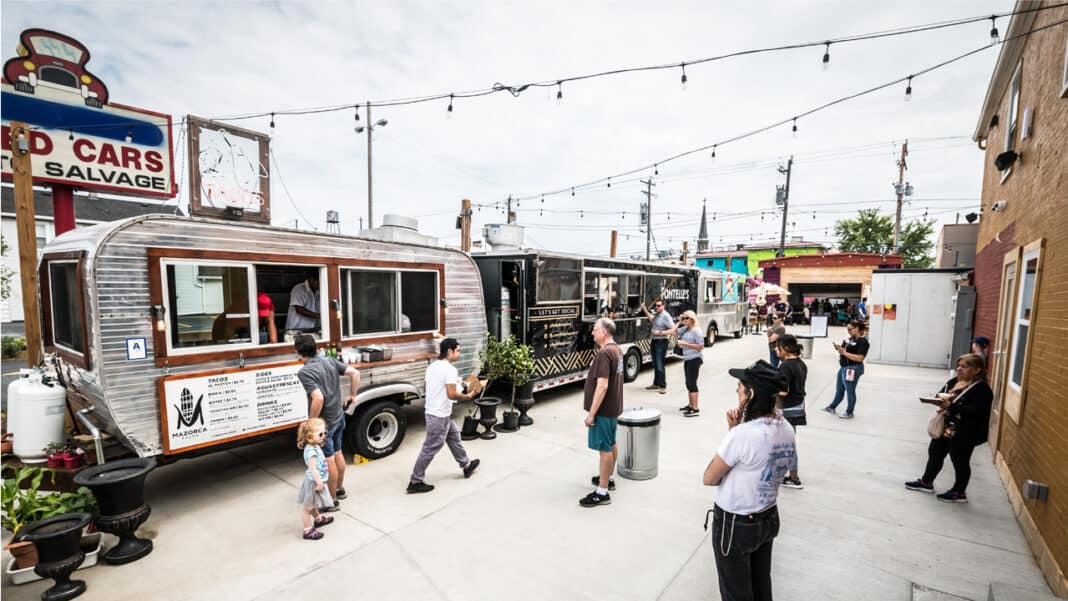 Zócalo Food Park is located in a neighborhood that has experienced growth and revitalization over the past few years.