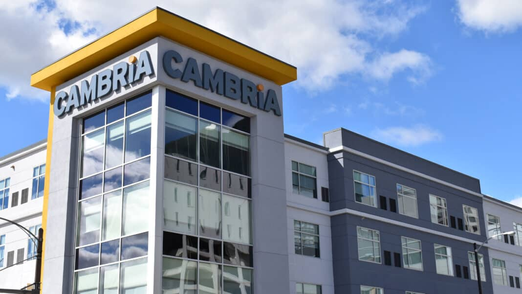 The Cambria Hotel in downtown Milwaukee opened in late August.