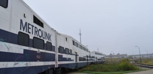 Five Metrolink trains have arrived at Talgo's Century City facility.