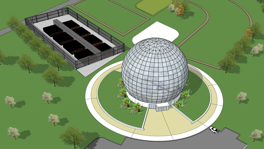 Foxconn plans to build spherical-shaped building at Mount Pleasant campus