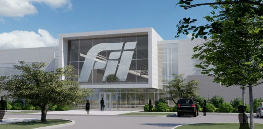 A rendering of the Fii Smart Manufacturing Center planned for Foxconn's campus in Mount Pleasant.
