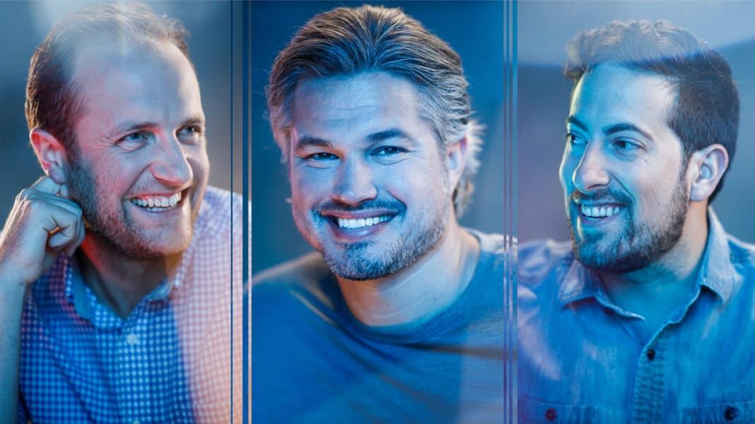 From left to right, Sam Hogerton, Matt Sabljak, Kurt Raether