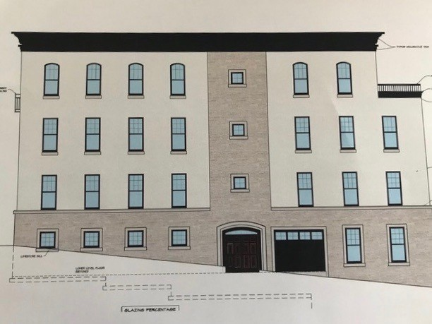 Drawings of the proposed apartment building at 1245 N. Milwaukee St. (Credit: Patera LLC)