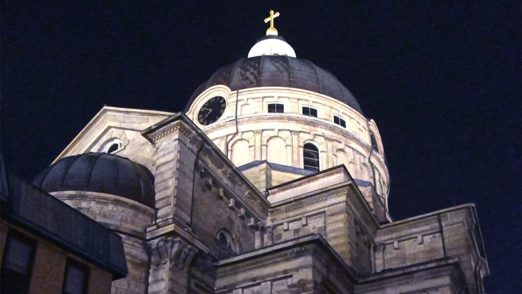 St. Josaphat lights its dome